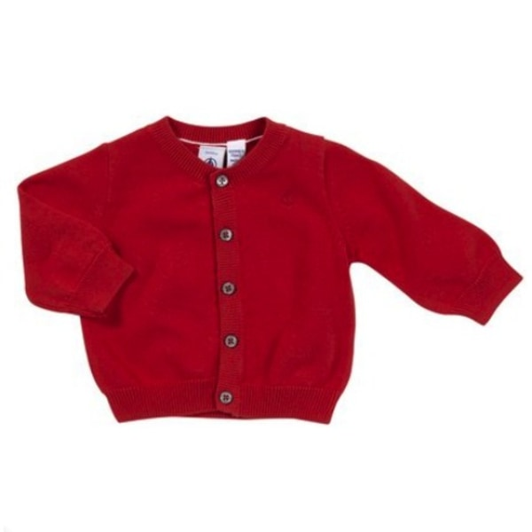 Prince George style red cardigan
