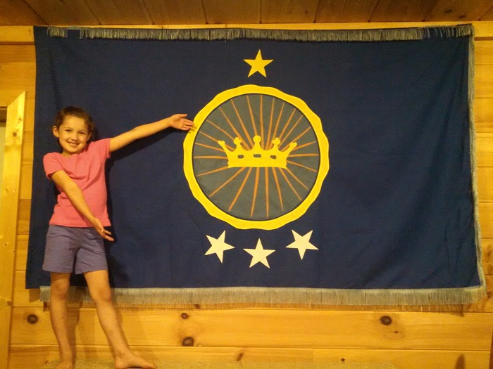 Emily Heaton is now princess of the Kingdom of North Sudan, and has a flag to prove it.