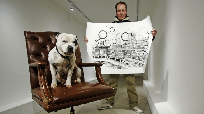 Image: John Dolan and his dog George