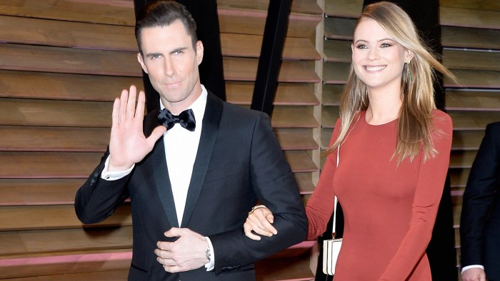 FILE - JULY 19: Singer Adam Levine and Behati Prinsloo are reportedly getting married in Cabo San Lucas, Mexico on July 19, 2014. WEST HOLLYWOOD, CA -...