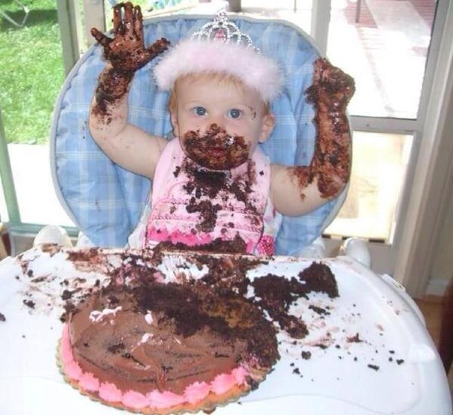 Year Old Baby Cake Smash Rage