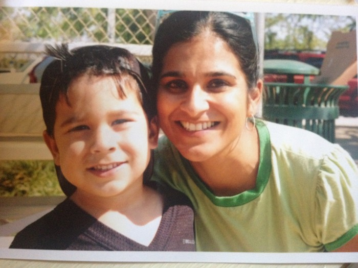 Kavita Varma White and son Jayan at age 2. Do preschool (or not) at your own pace, she advises.
