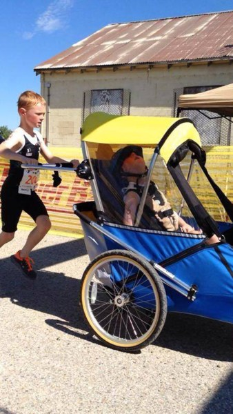 Larry Miller Boise >> Triathlon brothers: Boy pushes, pulls his disabled brother ...