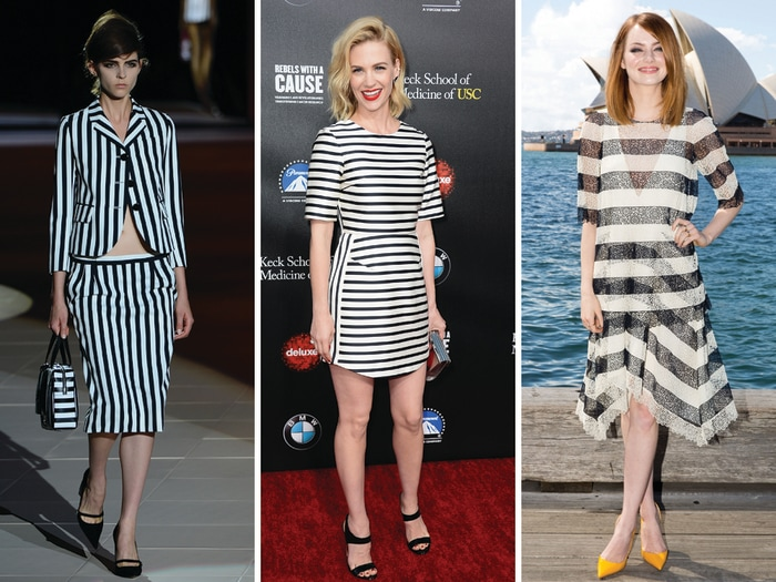 Image: Stylish ladies in stripes