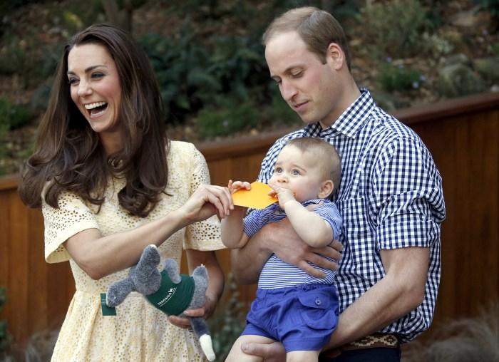 Prince George eating something