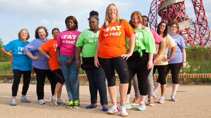 Julie Creffield, creator of The Fat Girls' Guide To Running, said she wants to inspire people who are overweight to live healthier lifestyles.