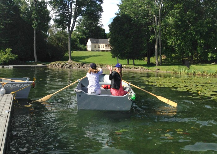 Natalie and Jenna go for a boat ride in Cooperstown.