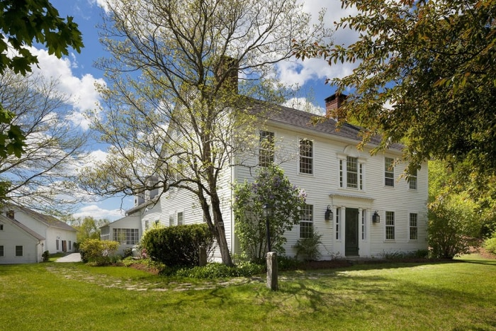 The home in Pomfret Center, Conn., sits on 38 acres of woodlands, open fields and gardens.