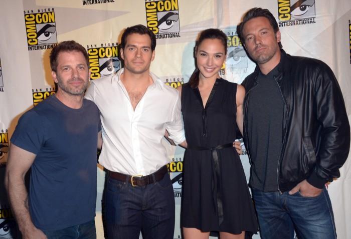 Image: Zack Snyder, Henry Cavill, Gal Gadot and Ben Affleck