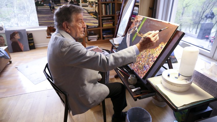 Joe For Oil >> Tony Bennett paints, too! See the singer's art studio and works - TODAY.com