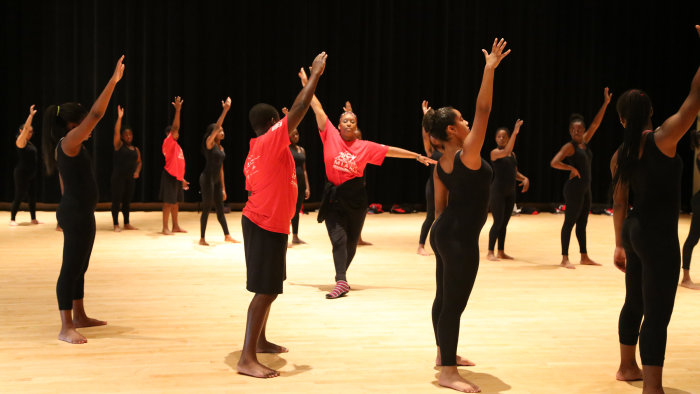 Former Alvin Ailey company dancer Cheryl Rowley-Gaskins says teaching at dance camp helps her give back.
