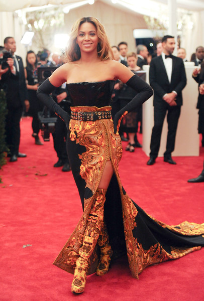 "Singer Beyonce Knowles attends The Metropolitan Museum of Art  Costume Institute gala benefit, ""Punk: Chaos to Couture"", on Monday, May 6, 2013 in New..."