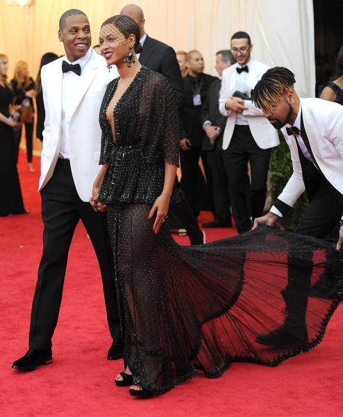 "Jay Z and Beyonce arrive at The Metropolitan Museum of Art's Costume Institute benefit gala celebrating ""Charles James: Beyond Fashion"" on Monday, May..."