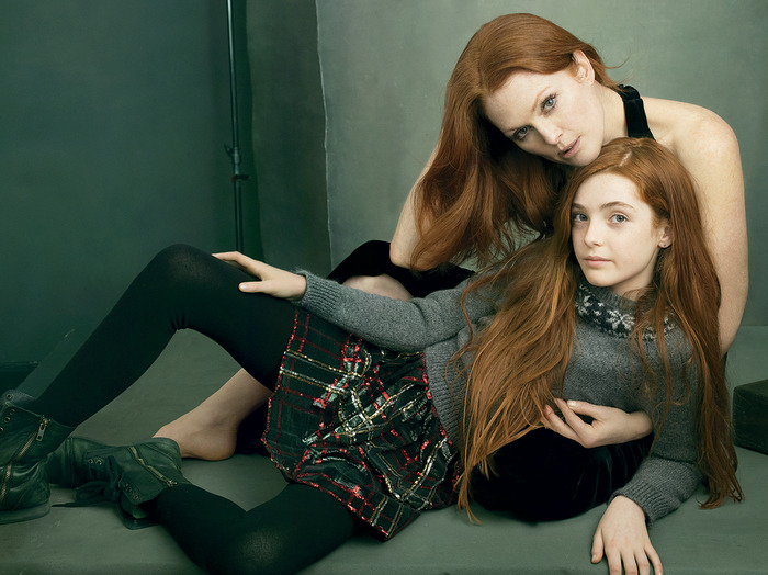 Image: Julianne Moore and daughter Liv Freundlich in Vogue.