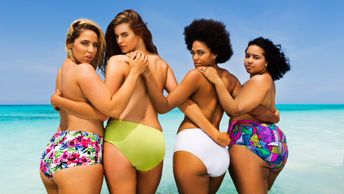 From left to right: Jada Sezer, Robyn Lawley, Shareefa J, GabiFresh.
