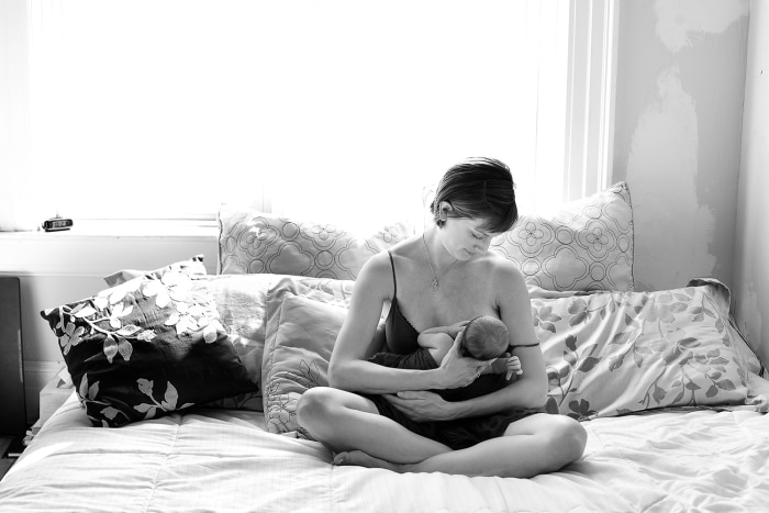 Janet and Baby Al share a quiet moment.
