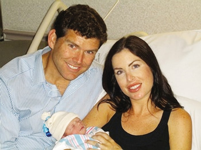Bret and Amy Baier with their newborn son, Paul