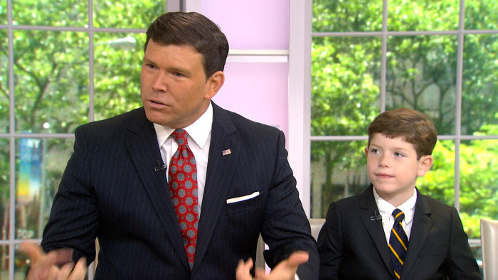 Bret Baier and his son Paul on TODAY