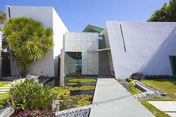 This angular, modern home was designed by architect Carlos Zapata.