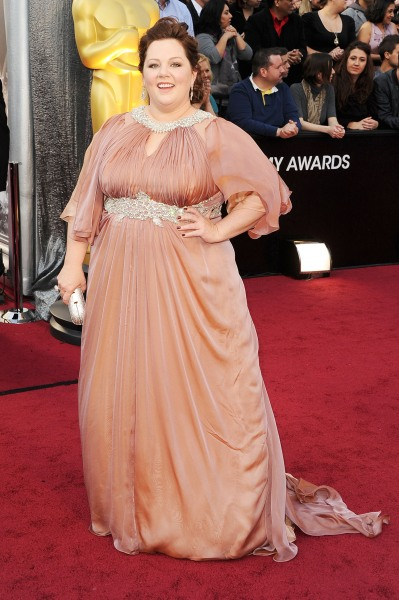 Actress Melissa McCarthy arrives at the 84th Annual Academy Awards held at the Hollywood & Highland Center on February 2...