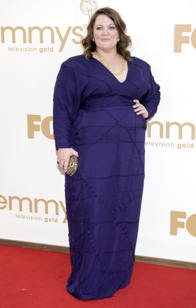 Melissa McCarthy arrives at the 63rd Primetime Emmy Awards on Sunday, Sept. 18, 2011 in Los Angeles. (AP Photo/Chris Pizzello)