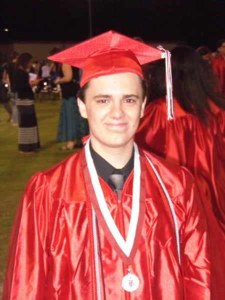 Ty Branch, pictured at his graduation, plans to attend the University of Central Florida to study biomedical engineering.