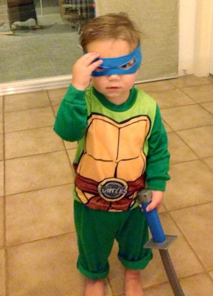 James is a huge fan of Teenage Mutant Ninja Turtles