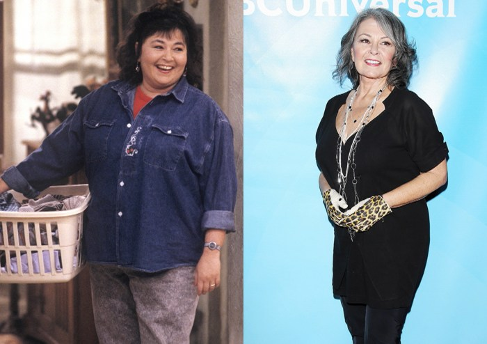 Image: Roseanne Barr, before and after
