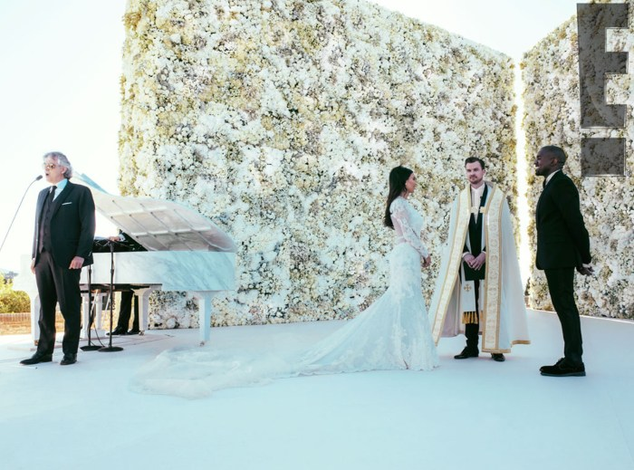 Image: Andrea Bocelli performed live as Kim Kardashian and Kanye West were married.