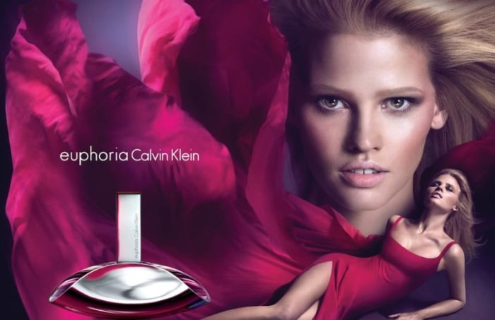 In 2012, Stone modeled for the advertising campaign of Euphoria perfume by Calvin Klein.