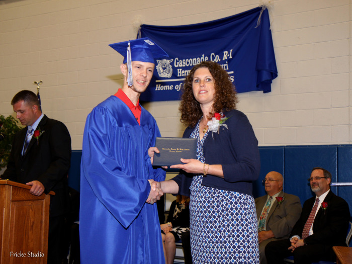 Zachary Ruediger at his graduation.