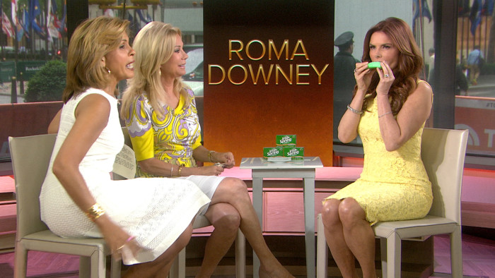 Image: Roma Downey with Hoda Kotb and Kathie Lee Gifford.