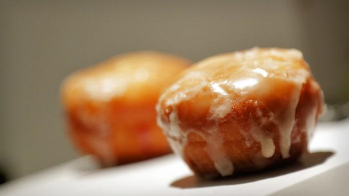 STK's raspberry Chambord filled doughnuts.