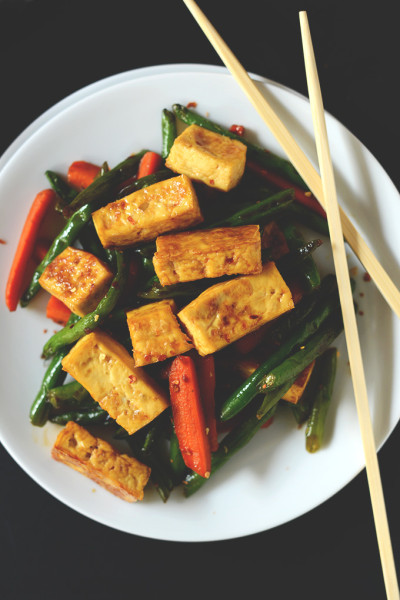 Veggie tofu stir-fry