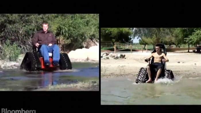 """The """"Tankchair"""" is an all-terrain wheelchair built like a tank."""