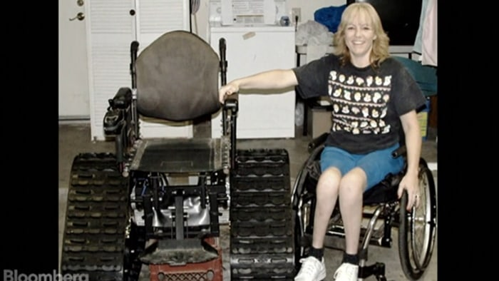 Tankchair creator Brad Soden came up with the idea to help his partially paralyzed wife.