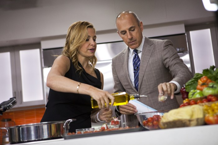 Donatella Arpaia cooks with Matt Lauer