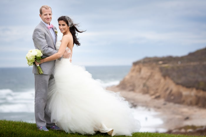 Meena and Adam Duerson wed in Montauk in September of 2011.