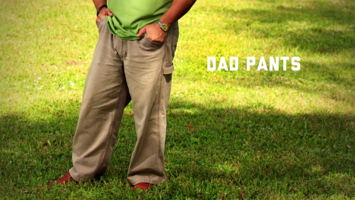 "A new Dockers ad makes a call to ""stop dad pants."""