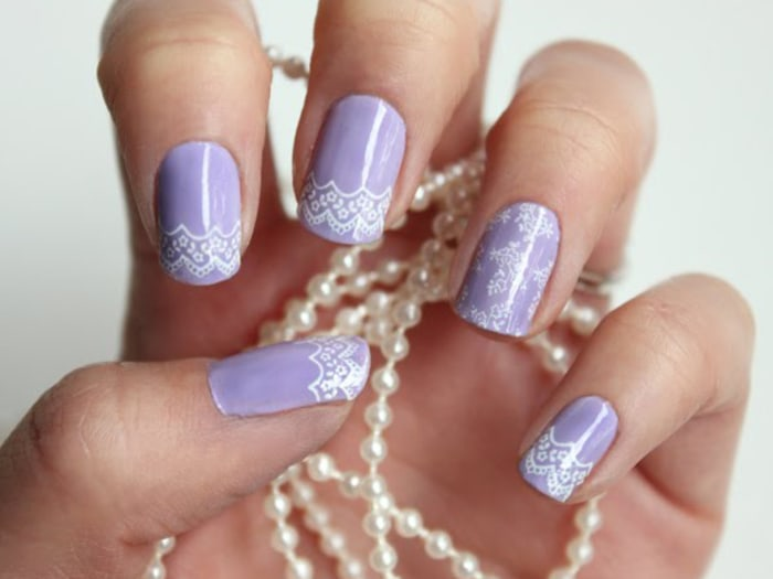 Nail Art On Your Wedding Day Lots Of Brides Are Saying I Do Today Com