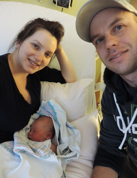 Image: Michelle and Ryan Ontonovich and their newest addition, Jacob.