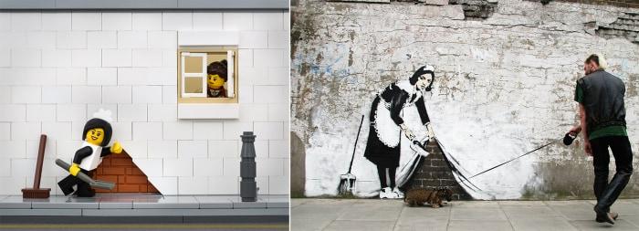 Banksy maid Lego diorama