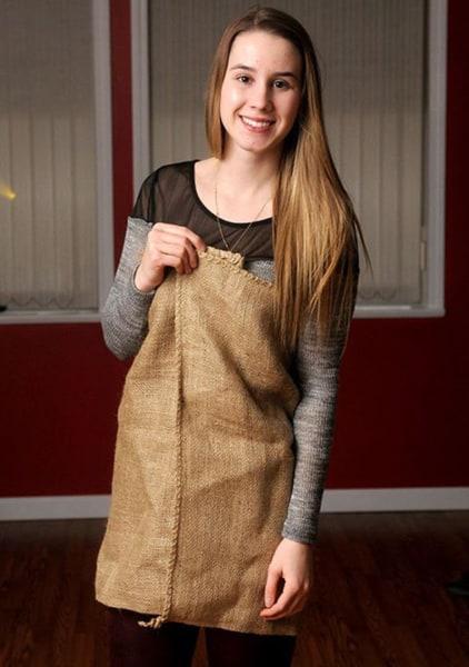 burlap dress