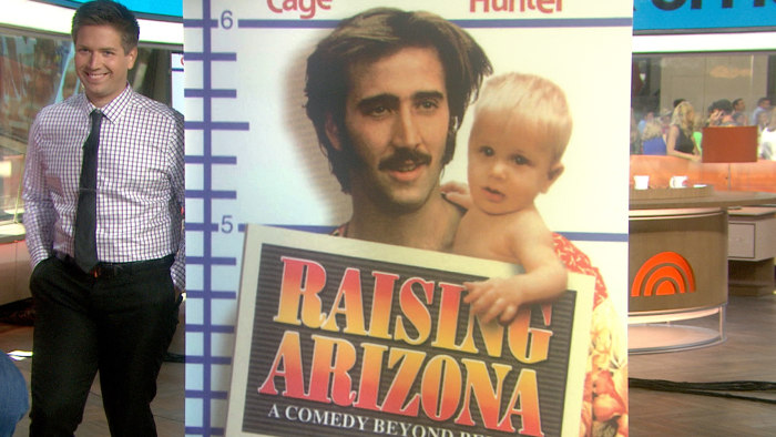 T.J. Kuhn and a poster for the movie that made him famous ... as a baby, at least.