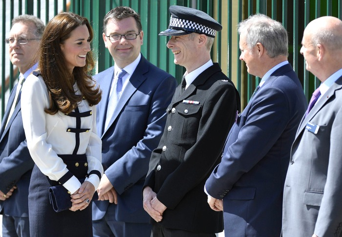 Britain's Catherine, Duchess of Cambridge arrives at Bletchley Park near Milton Keynes in southern England June 18, 2014. The Duchess of Cambridge vis...