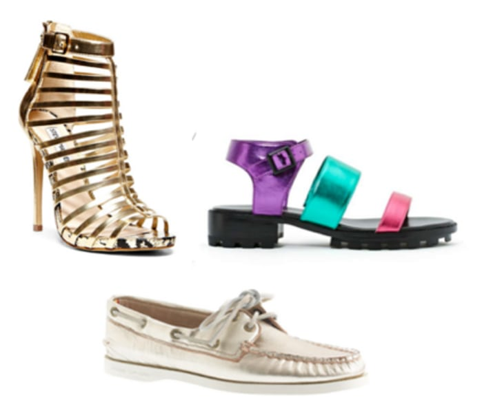 Metallic shoes for summer featured on TODAY's Style section