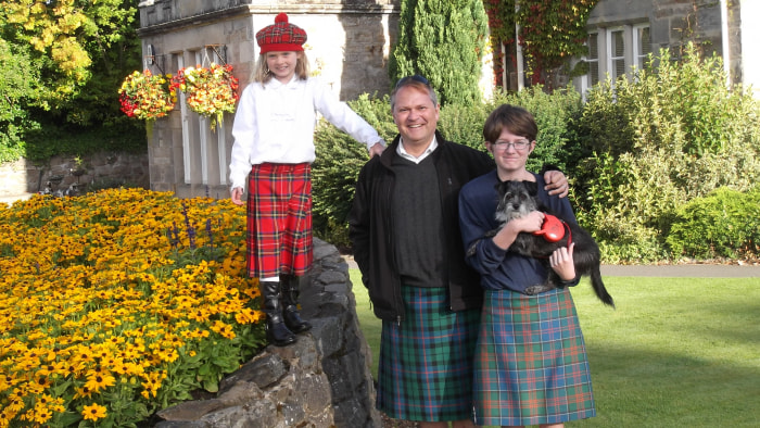 family in Scotland