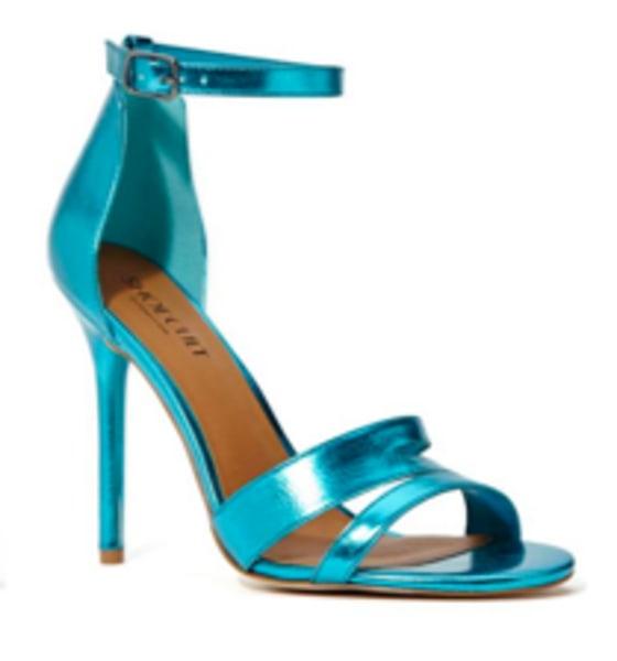 Blue metallic, strappy sandal on TODAY's Style segment