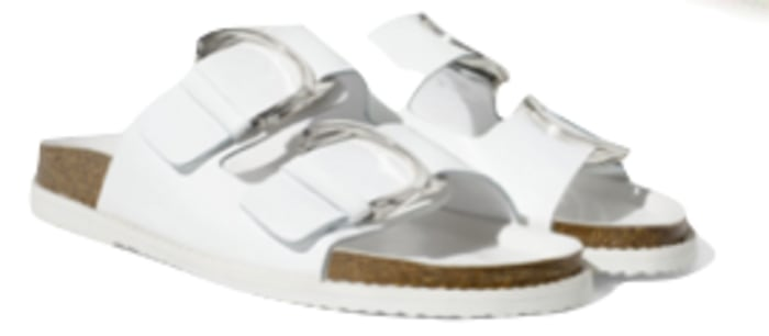 White leather sandals from Zara.com