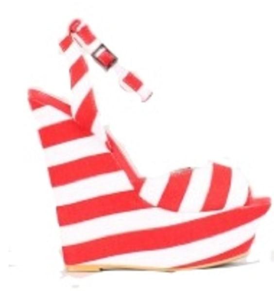 C Label Striped Wedge, Lulus.com